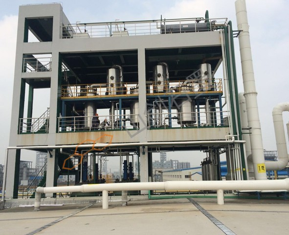 Three effect evaporation crystallization system of ferrous chloride