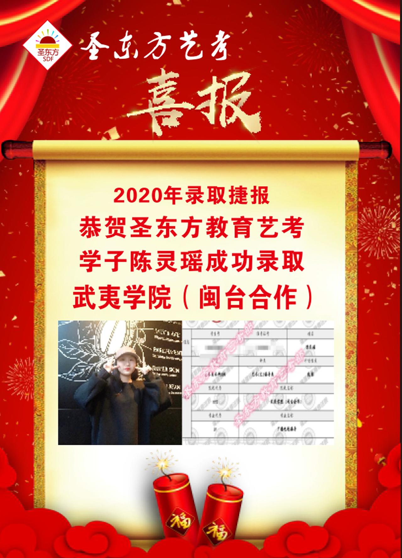 喜报!圣东方艺考2020年大学本科录取捷报频传!