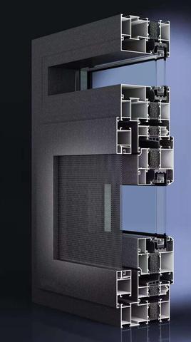 PC108(28条)隔热窗纱一体系列外平开窗
