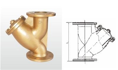 埃美柯过滤器-SY41-16T 黄铜法兰过滤器