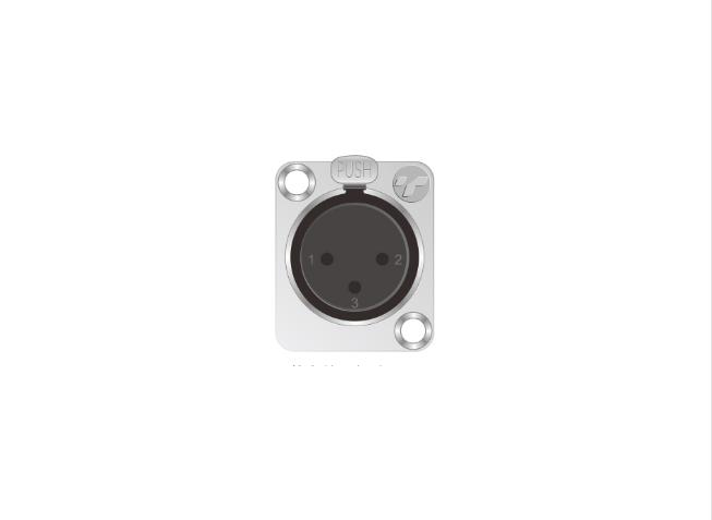 3芯卡侬母插座 TP002-3N