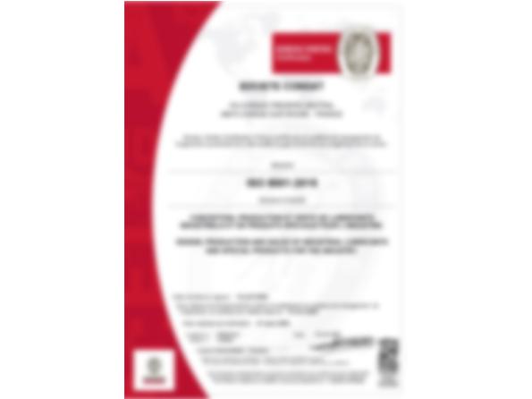 CERTIFICAT ISO 9001-New version