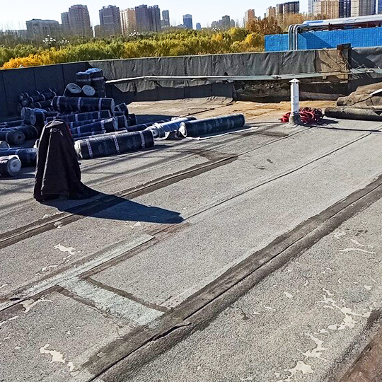 屋顶施工现场