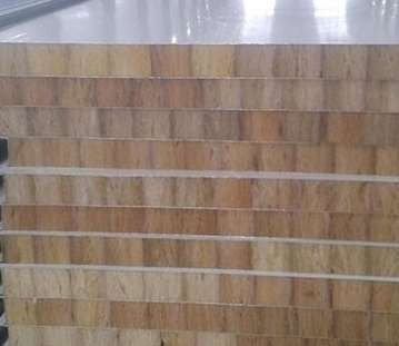 Relevant description of the structure of the rock wool sandwich panel of color steel