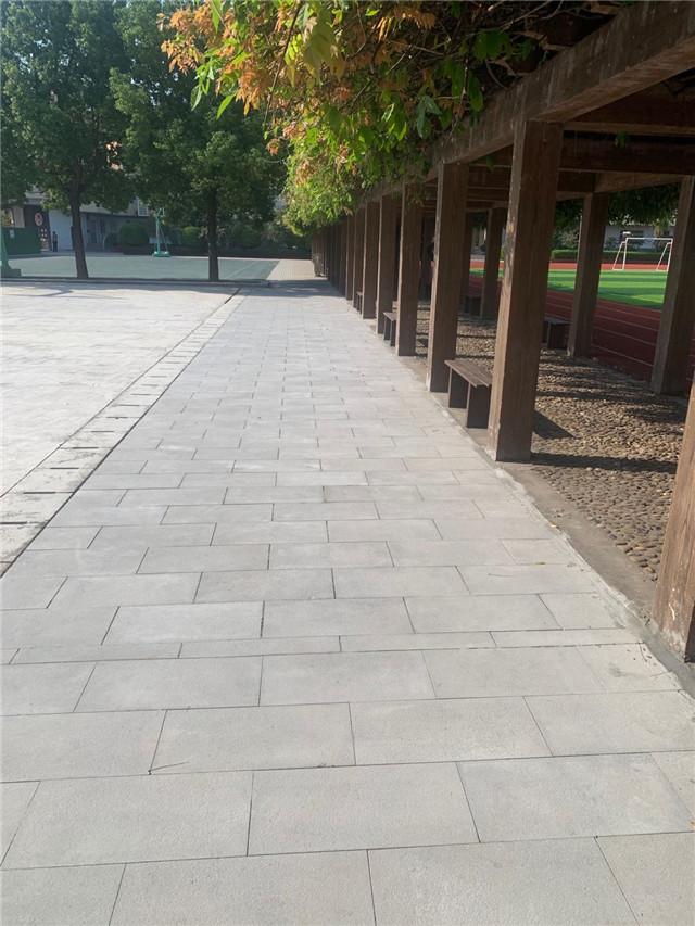 休闲游园铺设PC砖