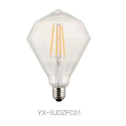 异形LED 灯丝灯 G125尖顶钻石