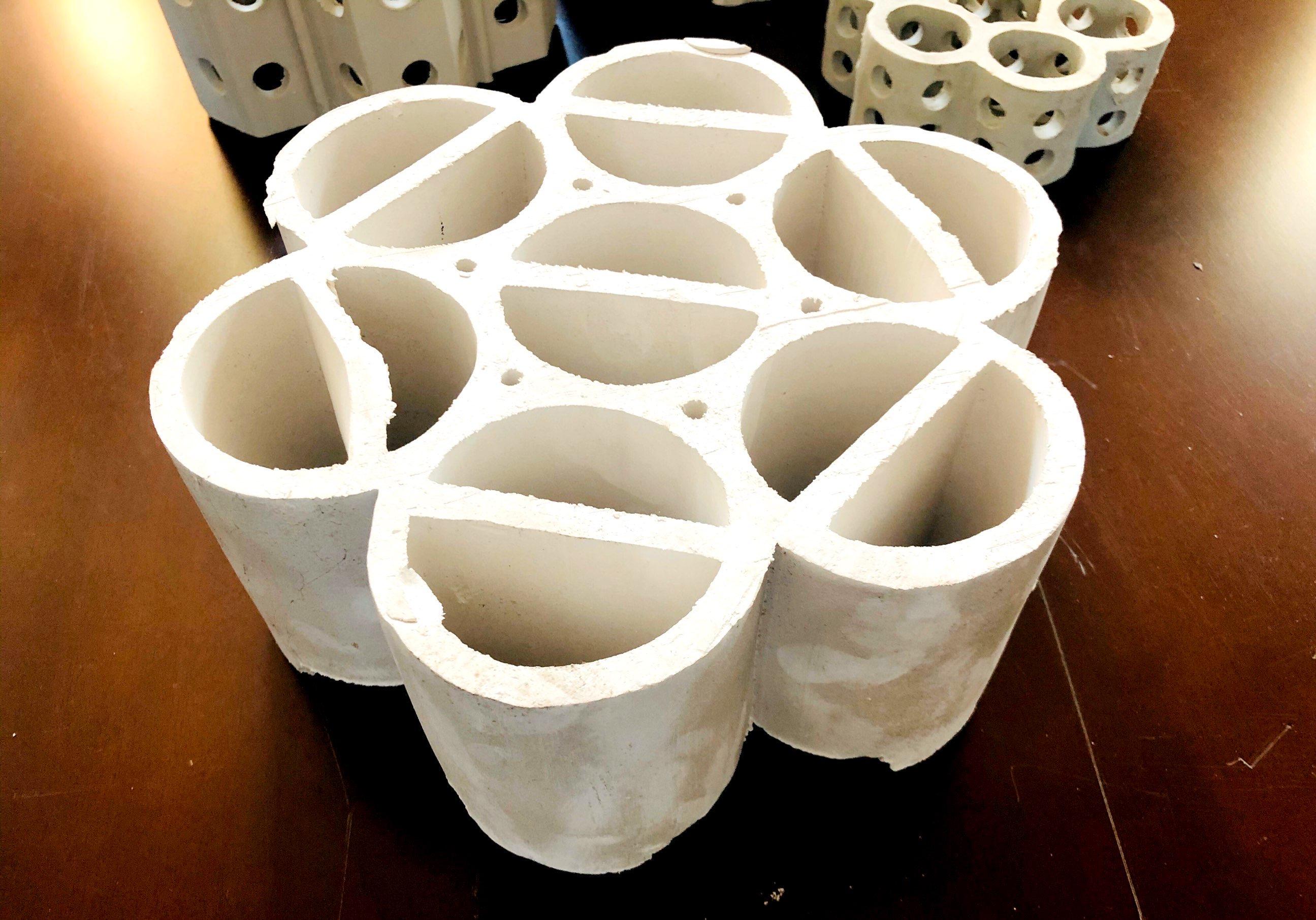 陶瓷七孔连环-全瓷组合环填料-全瓷规整填料