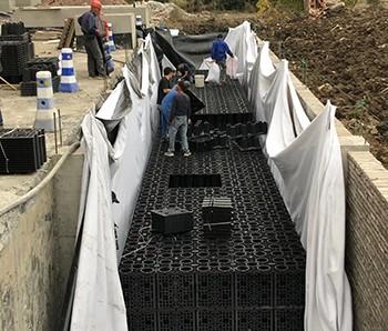 海宁项目雨水回收PP模块施工中