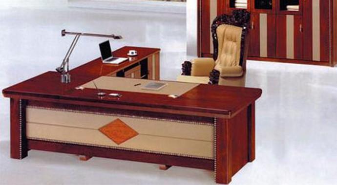 实木贴皮油漆班台办公桌