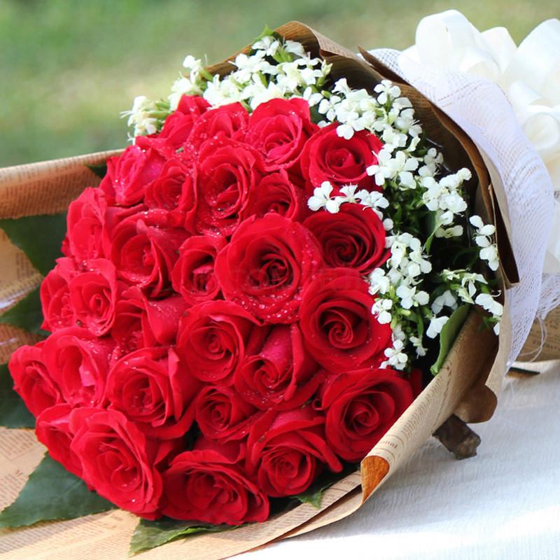 红玫瑰花束