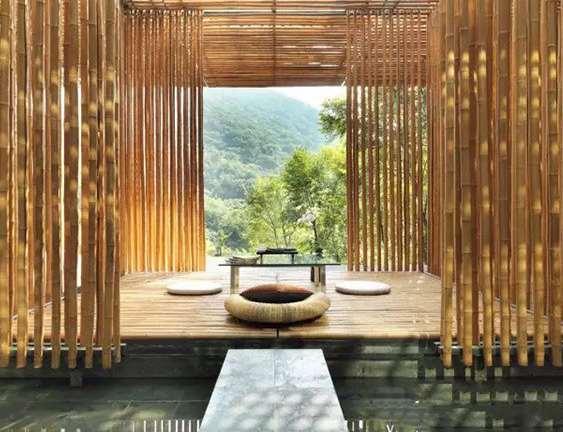竹木装饰吊顶线条走法