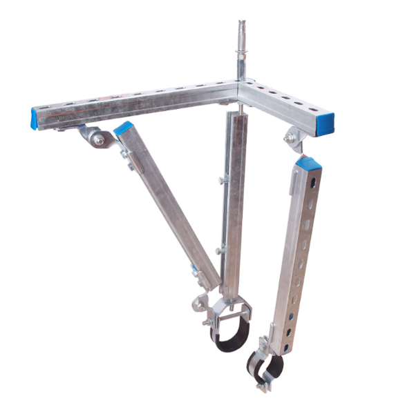 单管侧纵向抗震支架系统各大部件的安装流程