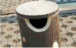 垃圾分类仿木垃圾桶设计的特点