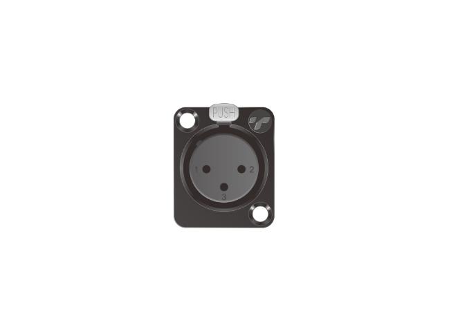 3芯卡侬母插座 TP002BG-3N