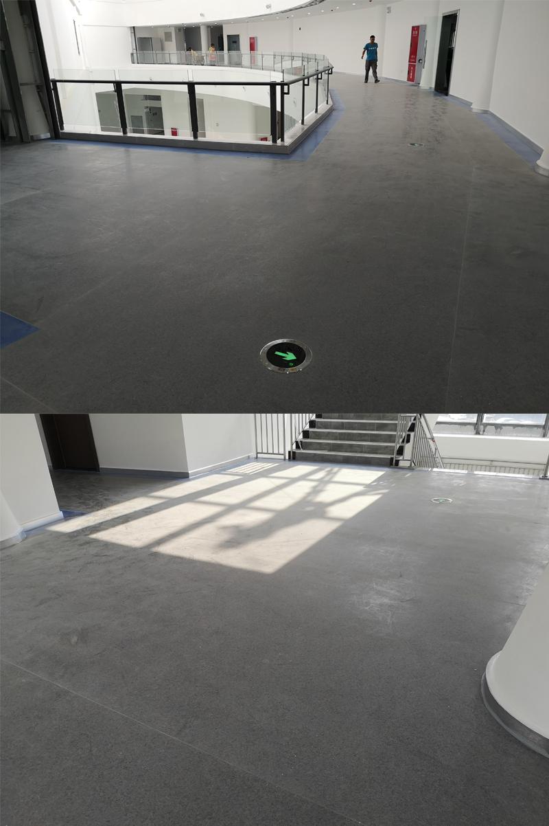 哈工大机器人公司PVC地胶铺设