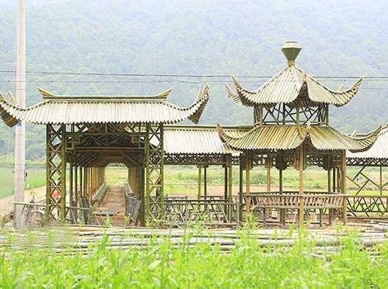 竹长廊生产制作方法介绍