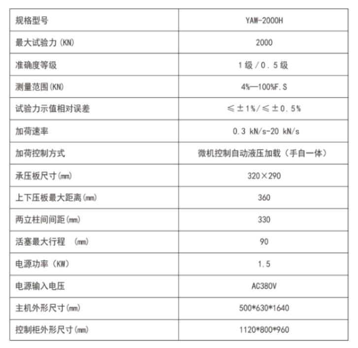 YAW-2000H-全自动电液伺服压力试验机(手自一体)