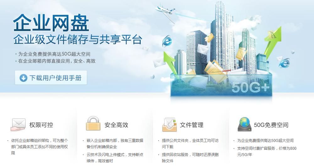 网易企业邮箱网盘,163企邮网盘、企业共享网盘