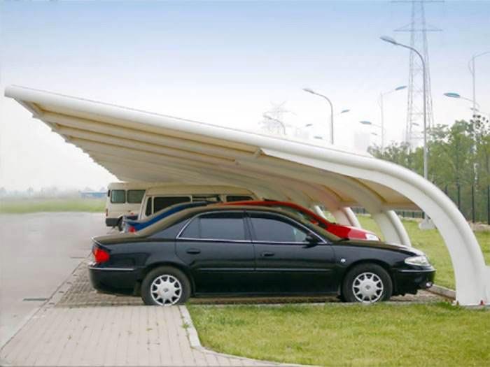 简述膜结构停车场的常用造型