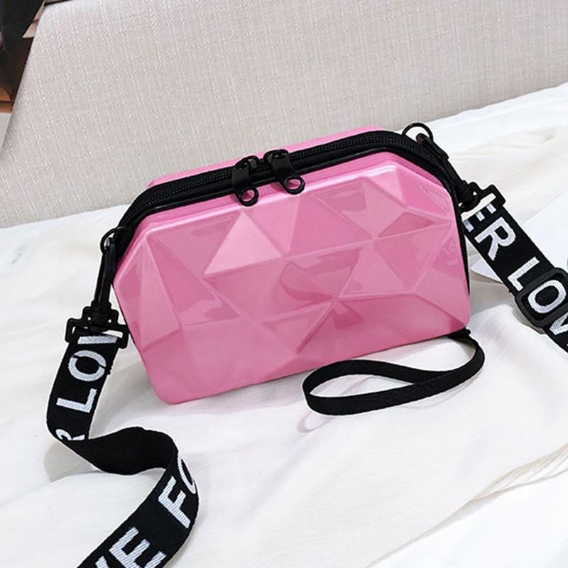 EVA化妆包 亮光PU钻石化妆盒韩版女性挎包