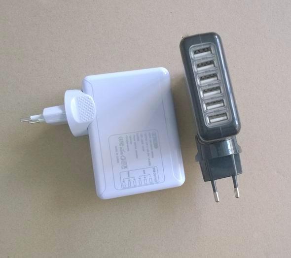 6個USB旅行充電器