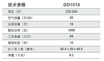 力奇GD1018桶式吸尘器