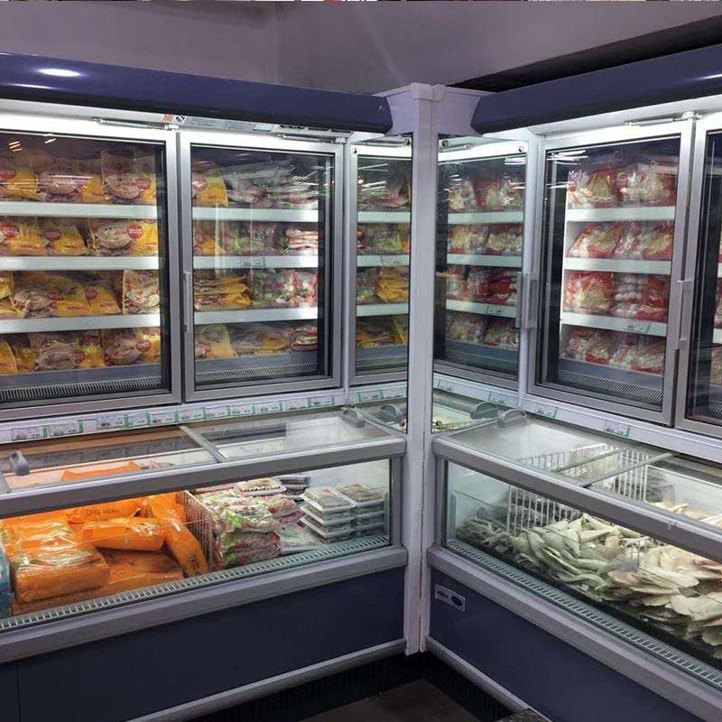 超市食品冷柜安装