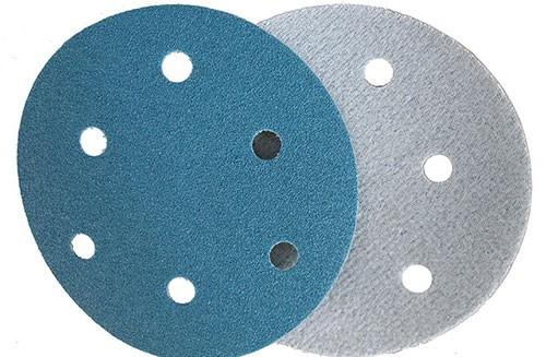 5寸6孔蓝色背绒圆盘-氧化铝-80#