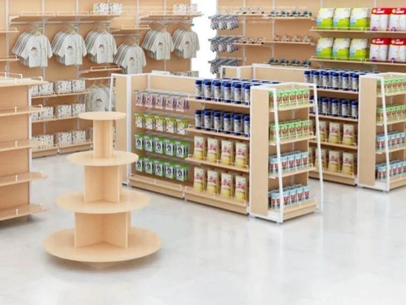 嬰幼兒產品鋼木展柜