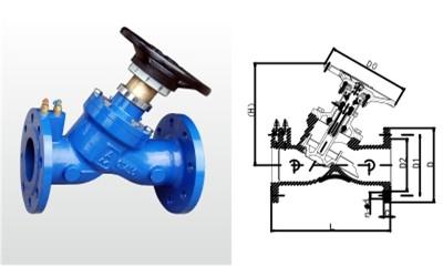 埃美柯平衡阀-SP45X-16Q 铸铁平衡阀