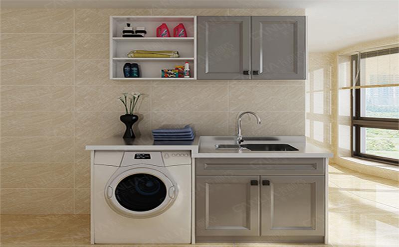 不锈钢洗衣柜-2
