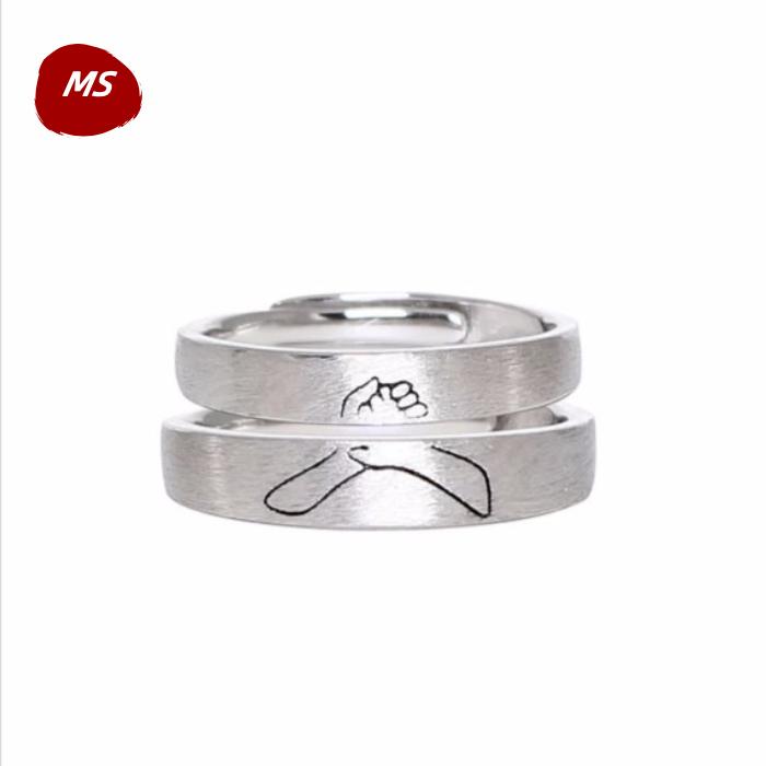执子之手925纯银戒指