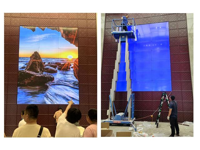 沈阳沈北蒲河新区某售楼处项目 55寸3X7拼接屏、46寸 4X5拼接屏项目