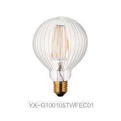 异形LED 灯丝灯 G100直条纹(外)