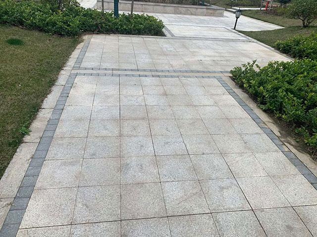 游园仿石材砖应用