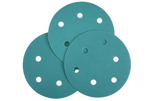 5寸6孔绿色背绒圆盘-氧化铝-180#