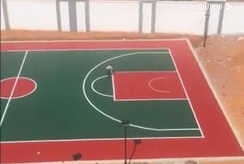 南陵县武警中队硅PU篮球场施工