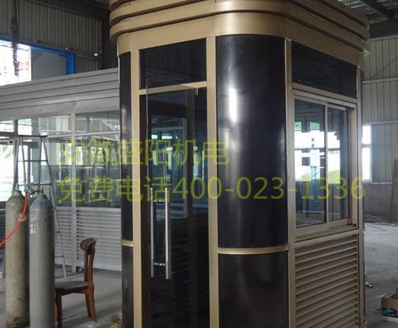 钢结构岗亭用来做吸烟亭该用哪些材料制作