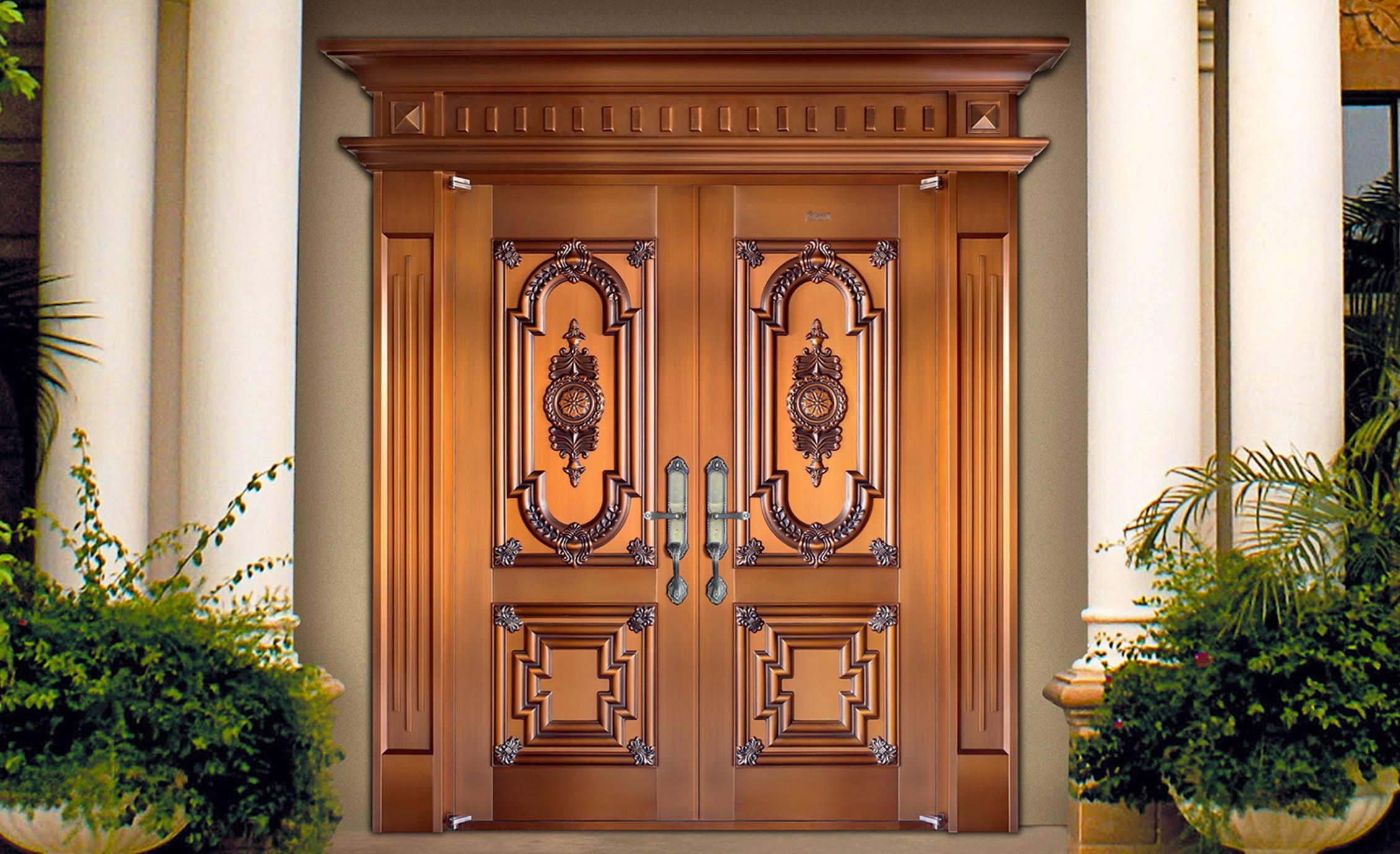 豪华别墅铜门厂家告诉你选购铜门的注意事项