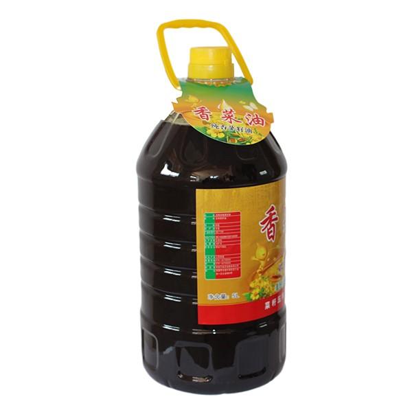压榨浓香香菜油5L