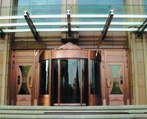 自动旋转铜门厂商告诉你自动旋转铜门的作用