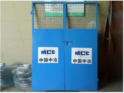 细说下施工电梯防护门的制作规范