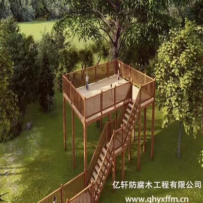 防腐木观景平台设计