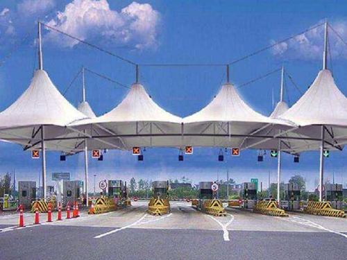 青海交通设施膜结构施工案例