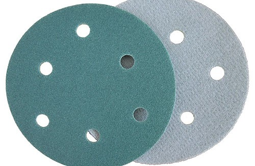 5寸6孔绿色背绒圆盘-氧化铝-100#