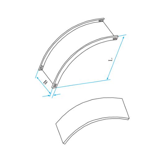 槽式圆弧型垂直上弯通
