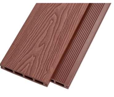 表面制有防滑槽的塑木地板是什么样的