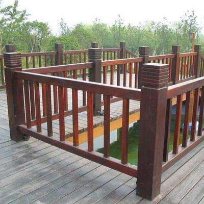 碳化木护栏