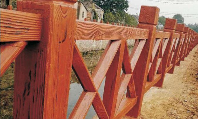 仿木护栏的自然性