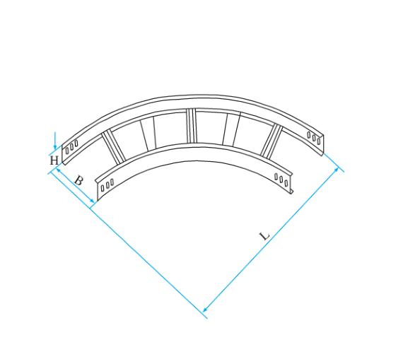 梯式圆弧型水平弯通